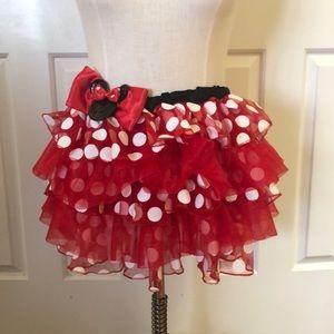 Disney Minnie Mouse red polka dot tutu girls 10-14